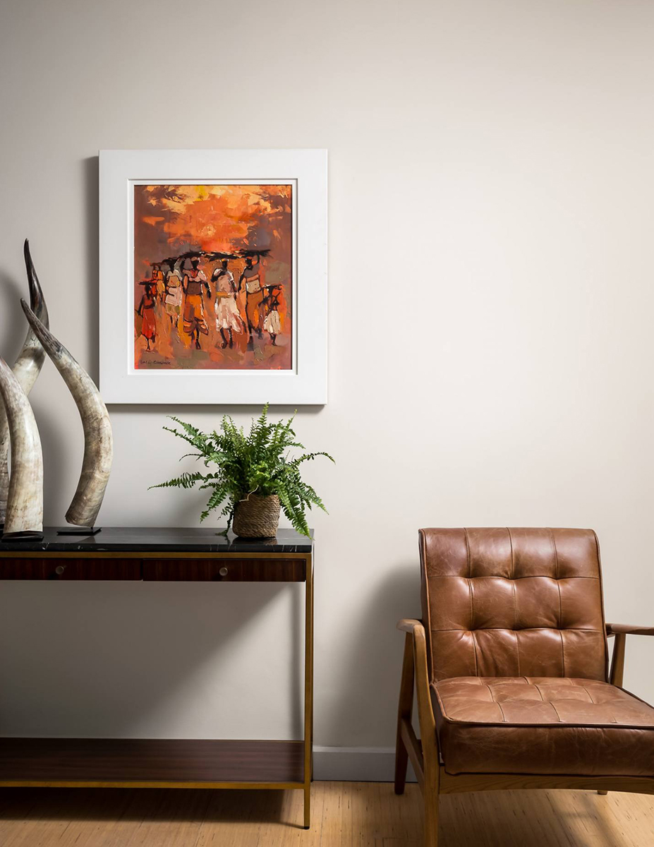 using orange in art and interior design