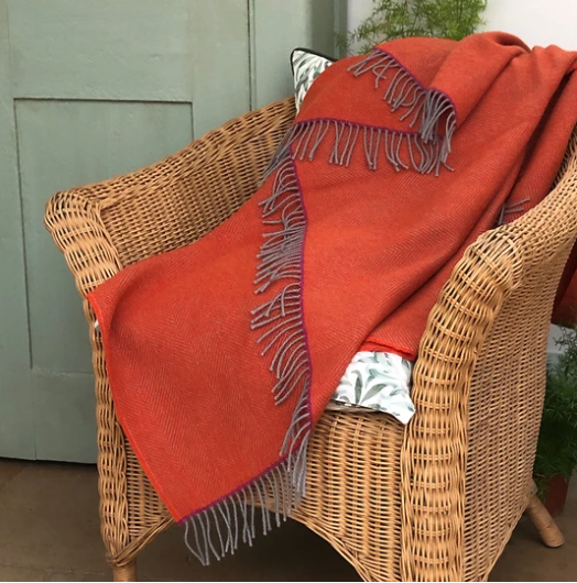 Orange Cadmium Throw