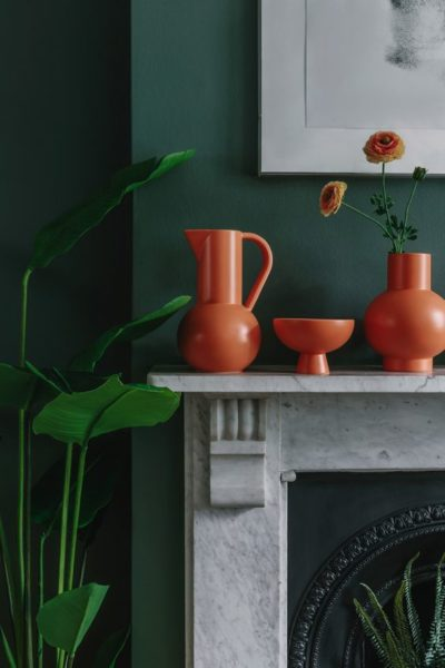 orange vase to break up colour