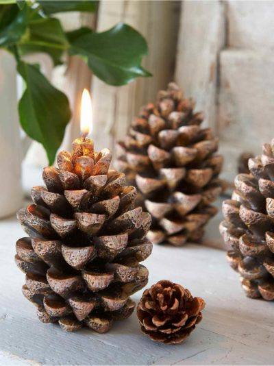 cone candles with glitter