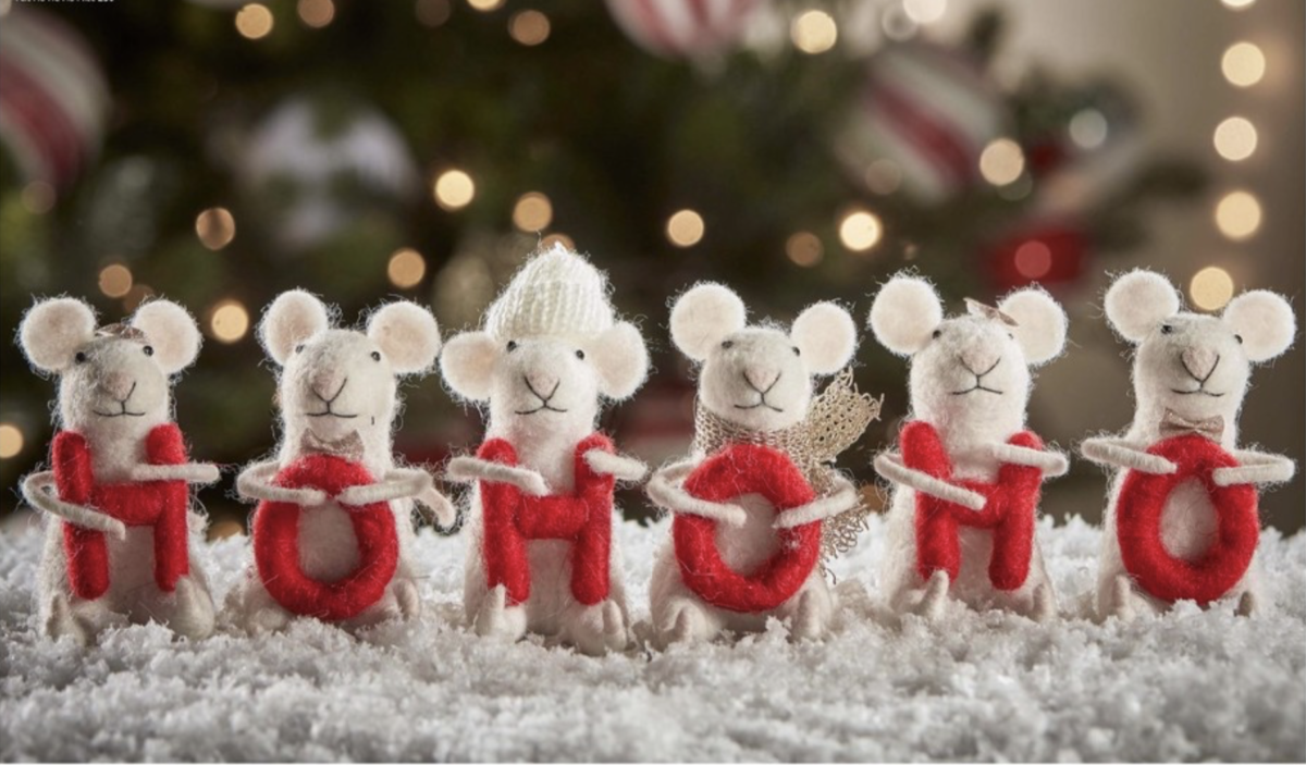 felt christmas mice