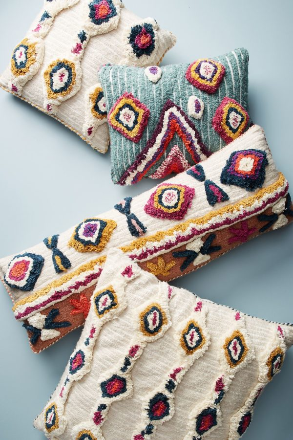 Decorative long cushions with a tribal design