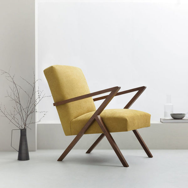 Mustard mid century occasional chair