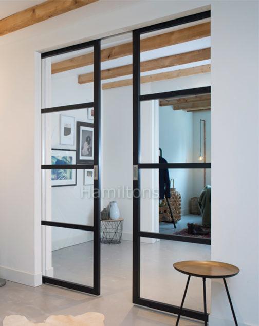 Open plan folding doors